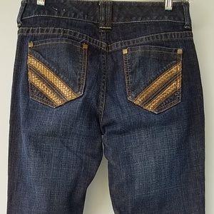 CHICO'S Platinum Boot Cut Jean Leather Acct 1 US 8